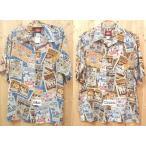 レインスプーナーのミッキーアロハシャツ R120-1355(Corner-Mickey)フルオープンシャツ