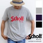 【SALE!!】【 Schott ショット 】 Schott BASIC LOGO T-SHIRT ベーシックロゴ プリン S/S Tシャツ 3183017
