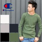 【Champion チャンピオン】ベーシック サーマル ロングスリーブ Tシャツ C3-E430/メンズ/トップス/長袖/Tシャツ/ワッフル/無地/CHAMPION/インナー/定番