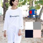 【Champion チャンピオン】ウィメンズ ロゴプリント7分袖Tシャツワンピース CW-N403