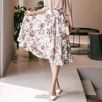 スカート レディース 膝丈 花柄 フラワー 30代 40代 ファッション 2017 春夏 新作