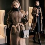 コート レディース ノーカラー ロング丈 ロングコート 40代 50代 ファッション