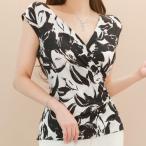 ブラウス トップス カシュクール ノースリーブ セクシー 30代 40代 ファッション 高級感 夏  新作