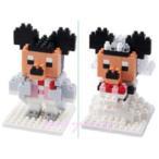 ミッキー / ミニー ナノブロック♪nano block ウェディング ブライダル タキシード ドレス お土産袋付き! 【東京ディズニーリゾート限定】【Disney】