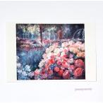 「夢の通り道」 Yumi Kohnoura作 オリジナル・ポストカード 絵はがき 葉書 絵画 薔薇 バラ 花 ばら園 バラ園 風景画