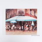 「約束のPM1:00」 Yumi Kohnoura作 オリジナル・ポストカード 絵はがき 葉書 絵画 カフェ 花 風景画 フランス パリ コントラスト低め
