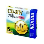 マクセル/CD-RW700MB5枚/CDRW80MQ.S1P5S