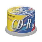 ソニー / データ用CD-R 700MB スピンドル 50枚 / 50CDQ80DNSP