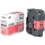 ラミネートテープ LM-L524BR 赤ラベル LX90250 [黒文字 24mm×8m]