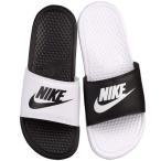 ナイキ サンダル ベナッシ ミスマッチ 男女兼用 白 黒 Nike Benassi JDI Mismatch Slide Black White