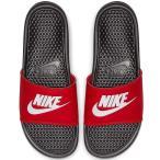 ナイキ メンズ サンダル ベナッシ JDI スライド 赤 黒 Nike Men's Benassi JDI Slide Black White University Red 送料無料