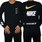 NIKE ナイキ 長袖Tシャツ メンズ ブラック マイクロブランド ロング スリーブ Tシャツ Nike Men's Microbrand Long Sleeve T-Shirt Black White