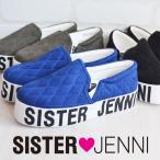 ショッピングjenni SISTER JENNI シスタージェニィ 2016 秋冬 AW ロゴ キルティング 厚底スリッポン 靴 19 20 21 22 23 24cm