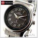 ソーラー電波時計 テクノスTECHNOS 三針 メンズウオッチ T0249SB