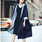 デニムジャケット デニムコート レディース ロング丈 ロング ロングコート コート 大きいサイズ 小さいサイズ アウター デニム フード カジュアル