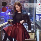 1480円セール ワンピース ワンピ フレア フレアスカート ハイウエスト ハイウエストスカート レディース お呼ばれスタイル パーティー ドレス