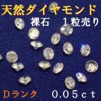 天然ダイヤモンド メレ 裸石 ルース ネイル 約0.05ct 約2.3ミリ 1/20 1個 一粒 ランクD