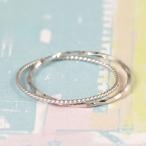 ショッピング指輪 指輪 リング レディース K18WG 2連 極細リング