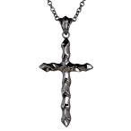 ショッピングネックレス ネックレス メンズ 男性 ブランド 人気ブランド Royal Stag Zest ネックレス ブラックダイヤモンド クロスネックレス