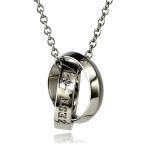 ショッピングネックレス ネックレス メンズ 男性 ブランド 人気ブランド Royal Stag Zest ネックレス ブラックダイヤモンド Wリングネックレス