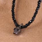 ネックレス メンズ 男性 人気 ブランド Royal Stag Zest スカル×BKコート ブラックスピネルペンダント