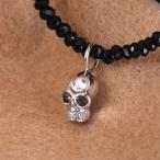 ネックレス メンズ 男性 人気 ブランド Royal Stag Zest スカル×WHコート ブラックスピネルペンダント