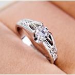 指輪 リング ピンキーリング 結婚指輪 あすつく 大きいサイズ ダイヤモンドCZ レディースアクセサリー プラチナ K18