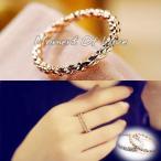指輪 リング ピンキーリング 大きいサイズ シンプル 重ね付け あすつく 秀逸 レディースアクセサリー K18