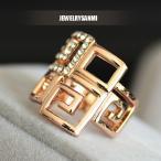 指輪 リング ダイヤモンドCZ フ ァッションリング K18 大きいサイズ レディースアクセサリー 送料無料