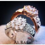 戒指 - 指輪 レディース リング スワロフスキー 雪花 華雪 豪華 キラキラ 大きいサイズ あすつく 18K  母の日 プレゼント 送料無料