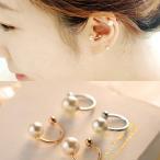 イヤリング 軟骨 片耳 パール 真珠 レディースアクセサリー K18 ファッションピアス