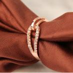 指輪 リング スワロフスキー SWAROVSKI 大きいサイズ ピンクゴールドK18 あすつく レディースアクセサリーファッション