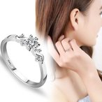 戒指 - リング 指輪 結婚指輪 ピンキー 大きいサイズ SWAROVSKI スワロフスキー あすつく レディースアクセサリー 記念日 DM便発送 即納