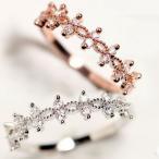 指輪 リング ピンキーリング 大きいサイズ 花柄 スワロフスキー SWAROVSKI あすつく レディースアクセサリー