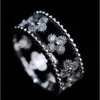 指輪 リング K18 スワロフスキー 精巧デザイン 正統派 送料無料 あすつく