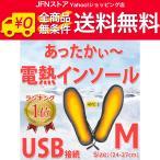 送料無料/ USB接続 あったかグッズ 電熱 インソール ヒーター M(24-27cm) 起毛やわらか素材 電熱ウェア 冷え対策[暖]フットウォーマー 車内