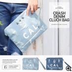 ショッピング クラッチバッグ メンズ デニム地 クラッシュ ダメージ加工 鞄 かばん 送料無料