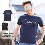 ショッピングプリント Tシャツ メンズ トップス 半袖Tシャツ ロゴプリント サーフプリント クルーネック 春 春服 送料無料