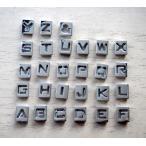 アルファベット スライド チャーム メタル シルバー イニシャル 名前 キーリング キーホルダー ハンドメイド アクセサリー パーツ