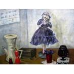 赤い靴 油彩画 40号 ラファエル派中村彝画聖の流れをくむ鈴木良三画伯の門弟小野田肇の作品