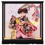 市松人形 わらべ人形 童ケース飾り ひな人形 初節句飾り