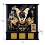 五月人形 ケース飾り 兜飾り 銀彫金 伊達政宗 兜 パノラマ 10号 kabuto-49 kabuto-49