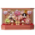 雛人形 ケース飾り ひな人形 親王飾り 桃香 153-213