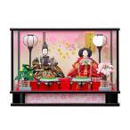 雛人形 ケース飾り ひな人形 コンパクト 可愛い ミニ 花扇三五親王飾 203-202 ガラスケース オルゴール付き 2020