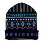 NEW スペイン DESIGUAL デシグアル レディース ロゴ&ウィンター柄 ニット帽 18WAHF01