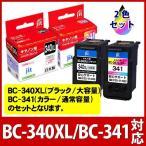 キャノン BC-340XL BC-341ブラック大容量 対応 リサイクルインク インクカートリッジ Canon 純正 ではない 日本製 即日配送 Pixus 対応 【定形外郵便】