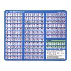 ローマ字変換マウスパッド(ブルー)サンワサプライ【MPD-OP17RL8BL】