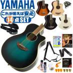 アコースティックギター 初心者セット YAMAHA APX600 ヤマハ アコギ (エレアコ) 14点 入門セット (ハードケース付属)