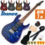 初心者セット エレキギター アイバニーズ エレキ 8点 入門 Ibanez GRX70QA GRX-70QA