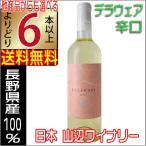 山辺ワイナリー 白ワイン デラウェア 辛口 720ml 長野県 国産 よりどり6本以上送料無料